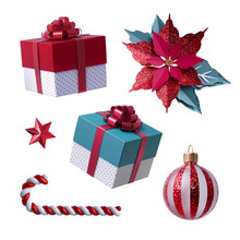 3d Christmas Clip Art. Set Of ...
