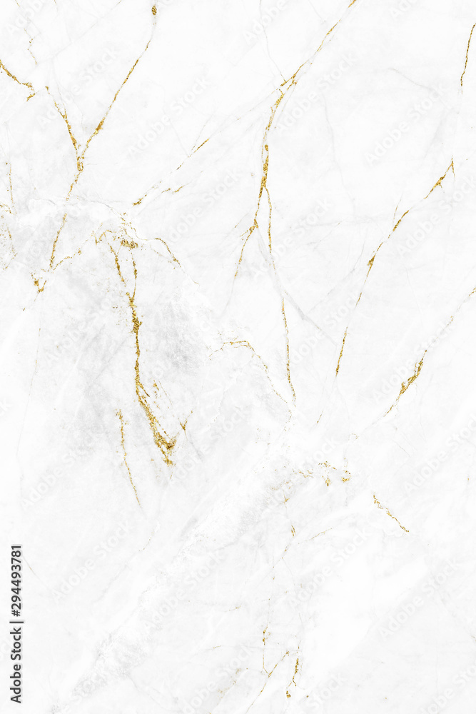 Fototapety, obrazy: White gold marble texture pattern background with high resolution design for cover book or brochure, poster, wallpaper background or realistic business