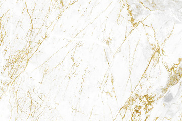 Fototapeta Kamienie White gold marble texture pattern background with high resolution design for cover book or brochure, poster, wallpaper background or realistic business