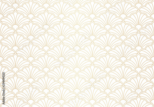Vector abstract seamless pattern Canvas Print