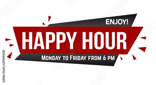 Stampa su Tela Happy hour banner design
