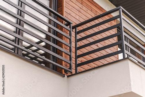 Modern Residential Balcony Canvas Print