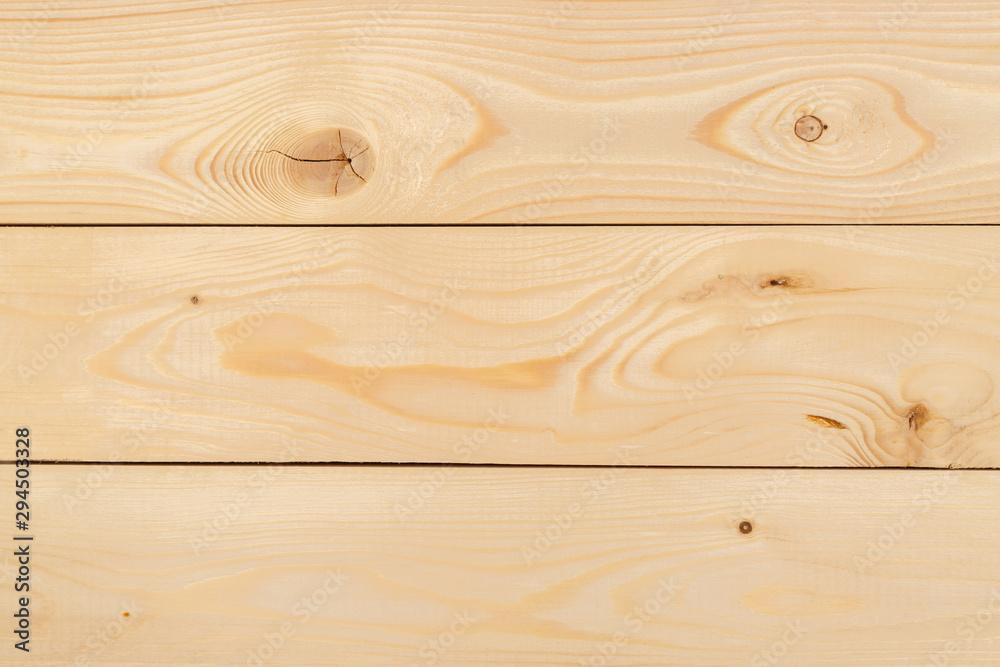Fototapety, obrazy: Freshly-planed wood planks closeup