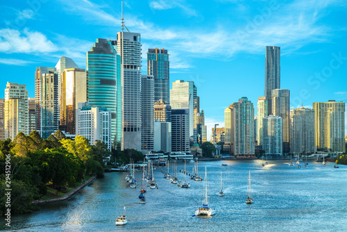 Brisbane skyline, capital of Queensland, Australia