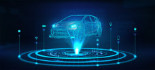 Hologram Auto, Futuristic Poly...