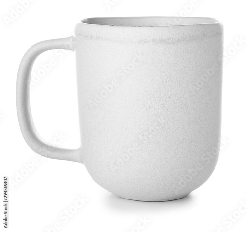 Obraz Ceramic cup on white background - fototapety do salonu