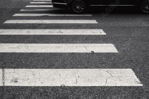 Fotomural crosswalk for pedestrian