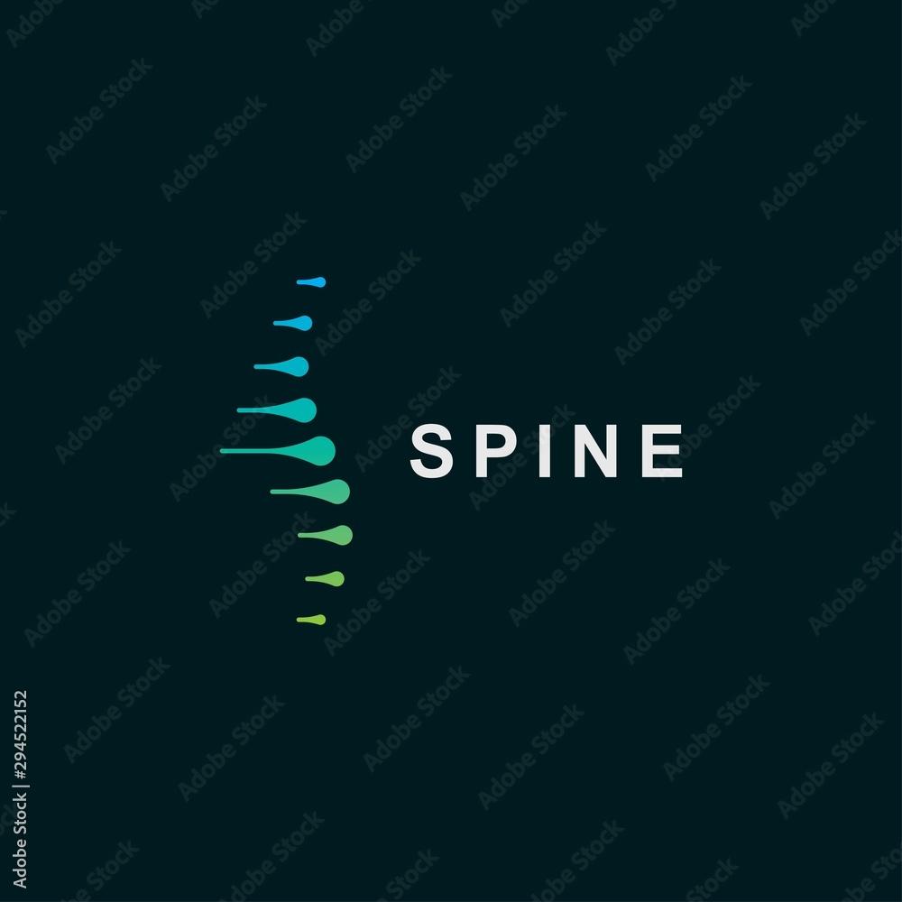 Fotografía Spine logo design template.icon for science technology