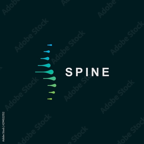 Cuadros en Lienzo Spine logo design template.icon for science technology