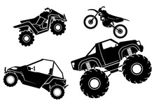 Off Road Adventure Vehicle Silhouettes