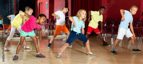 Fotobehang Dance School Children studying modern style dance