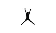 Kids Jump Logo Icon Design Vec...