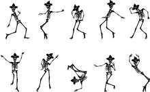 Silhouette Skeletons Dancing I...