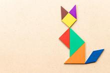Color Tangram Puzzle In Sittin...