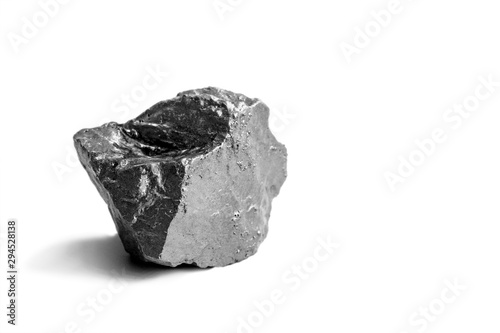aluminium nuggets on a white background Canvas Print