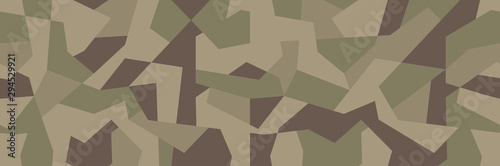Vector geometric camouflage seamless pattern Wallpaper Mural