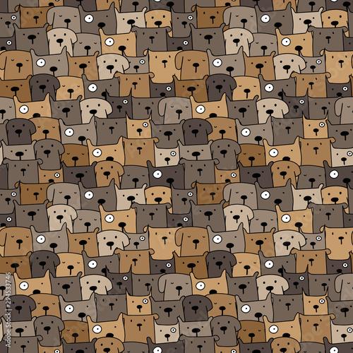 Photo  Cute dog seamless pattern background. Vector illustration.