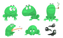 Collection Of Funny Green Frog...