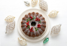 Christmas Bundt Cake With Xmas...
