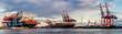 canvas print picture - Containerterminal Hafen Hamburg