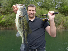 Lucky Fisherman Holding A Larg...