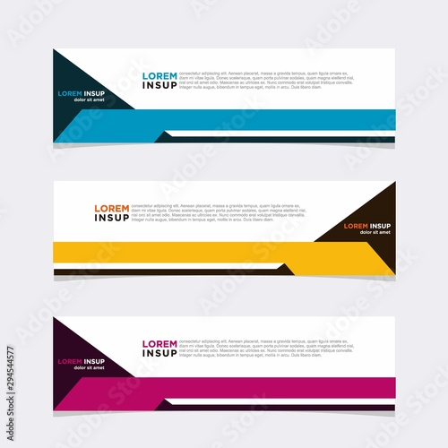 Fototapeta Modern vector banner web background abstract design template obraz
