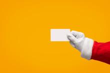 Santa Claus Hand Holding Plast...