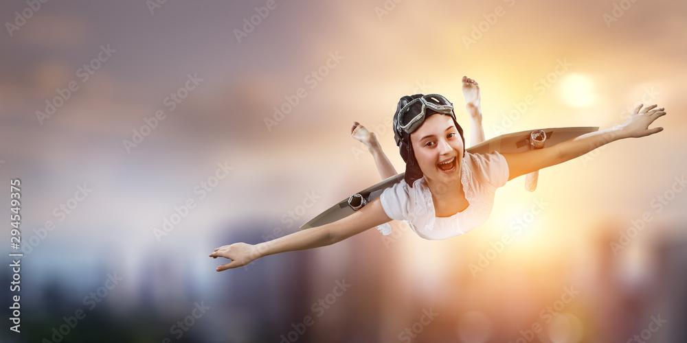 Fototapety, obrazy: I can fly. Mixed media