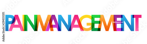 Photo PAIN MANAGEMENT colorful rainbow typography banner