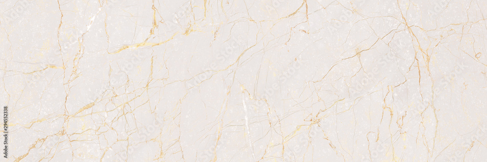 Fototapety, obrazy: Natural Marble Stone Texture Background, Light Pink Colored Marble With Golden Curly Veins, It Can Be Used For Interior-Exterior Home Decoration and Ceramic Tile Surface, Wallpaper.