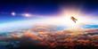 Leinwandbild Motiv Spaceman and planet, human in space concept