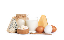Set Of Different Dairy Product...