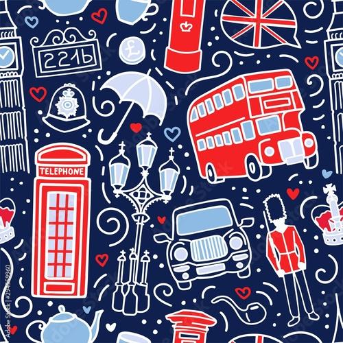 Tapety Angielskie  wektor-wzor-z-symbolami-londyn-wielka-brytania-recznie-rysowane-elementy-doodle-w-kolorach-niebieskim-bialym-i-czerwonym-niekonczace-sie-tlo-do-druku-tapety-projektowania-tekstyliow-na-temat-wielkiej-brytanii