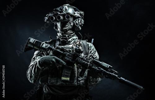 Fotografia, Obraz Modern combatant