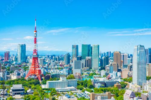 東京タワー 都市景観 Wallpaper Mural