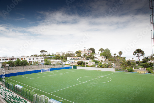 Obraz large football pitch in the city of capri italy - fototapety do salonu