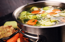 Broth With Carrots, Onions Var...