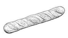 Baguette - Drawing Of Bakery P...