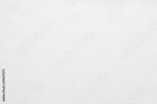 Fotografiet  White cotton fabric texture background, seamless pattern of natural textile
