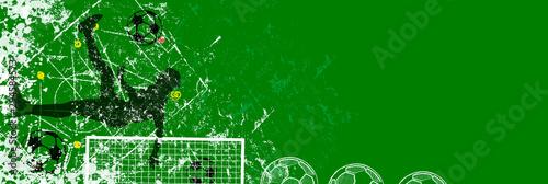 Fotografie, Obraz grunge soccer o