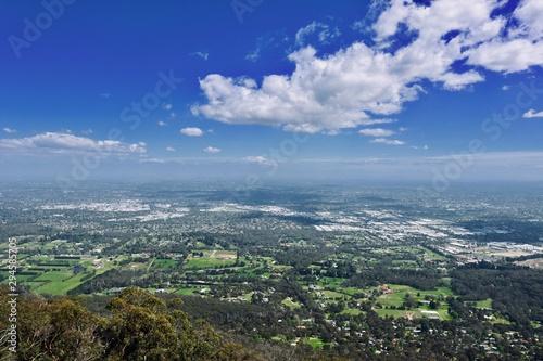 Mount Dandenong View, Melbourne, Australia Fotobehang