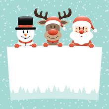 Schneemann Rentier Und Weihnac...