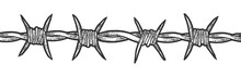Barbed Wire Sketch Engraving V...
