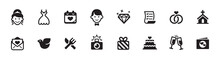 Wedding And Love Icon Set (vec...