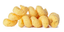 Cheese Puff Balls Isolated On ...