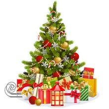 Vector Christmas Fir Tree With...