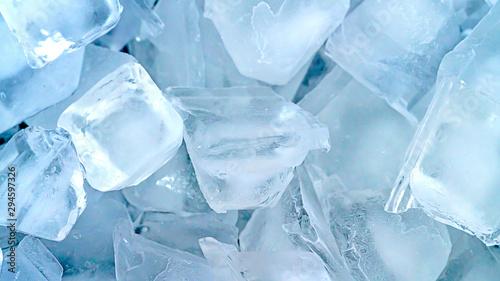 Zamyka w górę kostki lodu tła