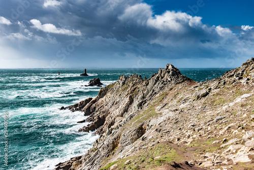 The Pointe du Raz, Brittany Fotobehang