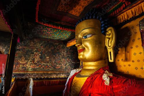 Obraz na plátně Sakyamuni Buddha statue in Shey gompa, Ladakh