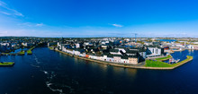 Aerial View Of Galway Cityscap...